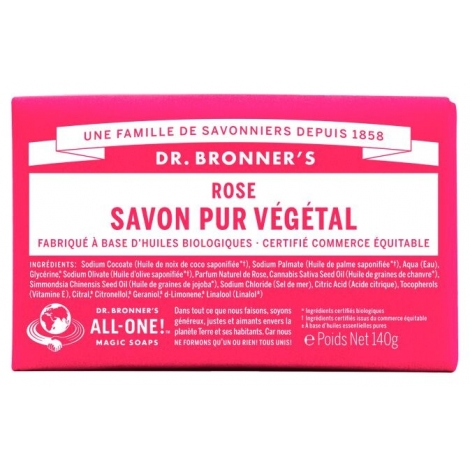 DR. BRONNER'S - Savon solide 18en1 Rose